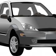 Ilustración de un coche utilitario gris