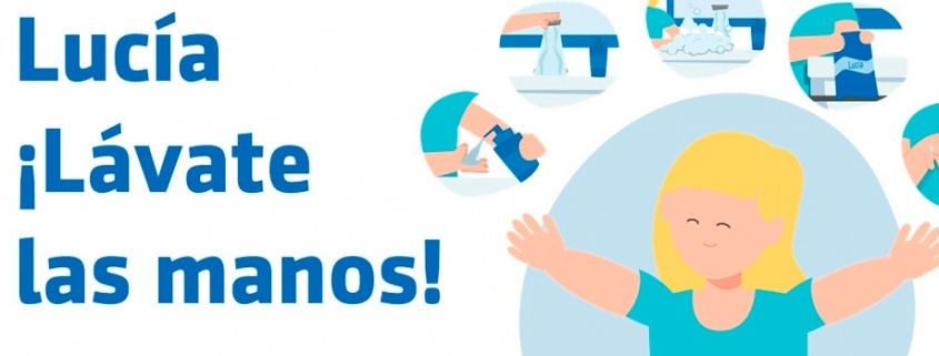 portada lucia lavate las manos coronavirus niños