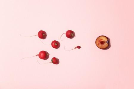 Ilustración que hace referencia a la ovulación dentro del ciclo menstrual