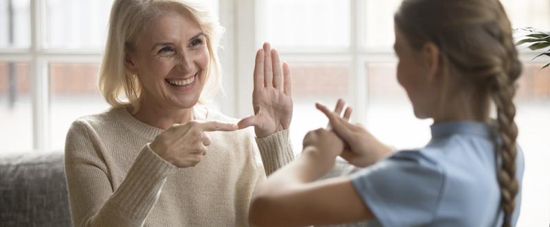 sordera y lenguaje de señas